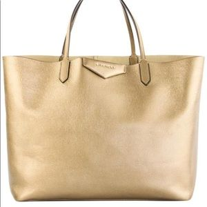 Givenchy Antigone Gold Leather Tote